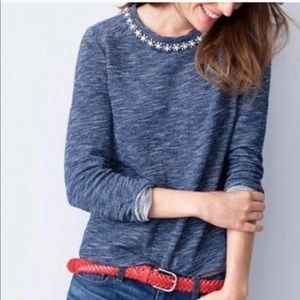 J Crew Marled jeweled sweatshirt Size XS